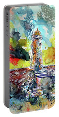 Lighthouse After Storm Portable Battery Charger by Kovacs Anna Brigitta