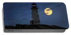Lighthouse And Full Moon Portable Battery Charger
