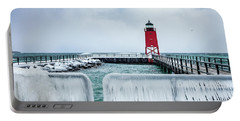 Lighthouse And Ice Portable Battery Charger