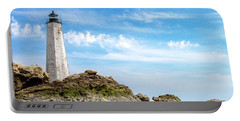 Lighthouse And Rocks Portable Battery Charger