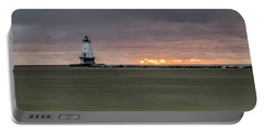 Lighthouse And Sunset Portable Battery Charger
