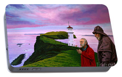 Lighthouse At Mykines Faroe Islands Portable Battery Charger by Paul Meijering
