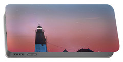 Portable Battery Charger featuring the photograph  Lighthouse At Sunrise by Juli Scalzi