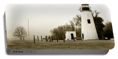 Lighthouse At Turkey Point Portable Battery Charger