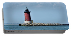 Delaware Breakwater East End Lighthouse - Lewes Delaware Portable Battery Charger