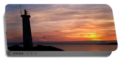 Portable Battery Charger featuring the photograph Lighthouse by Fabrizio Troiani