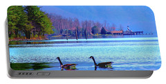 Lighthouse Geese, Smith Mountain Lake Portable Battery Charger
