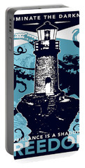 Lighthouse, Illuminate The Darkness, Vintage Travel Poster Portable Battery Charger