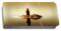 Lighthouse In A Calm Sea Portable Battery Charger