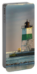 Lighthouse In The Sunset Portable Battery Charger