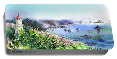 Lighthouse Landscape Watercolor Portable Battery Charger