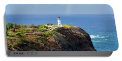 Lighthouse On A Cliff Portable Battery Charger