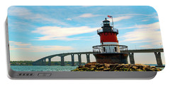 Lighthouse On A Small Island Portable Battery Charger