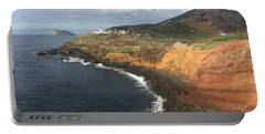 Lighthouse On The Coast Of Terceira Portable Battery Charger by Kelly Hazel