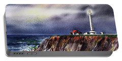 Lighthouse Point Arena At Night Portable Battery Charger