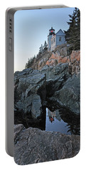Portable Battery Charger featuring the photograph Lighthouse Reflection by Glenn Gordon