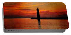 Lighthouse Silhouette  Portable Battery Charger