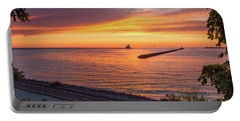 Lighthouse Sunset Portable Battery Charger