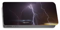Lightning At Dusk Portable Battery Charger