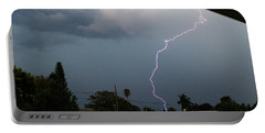 Lightning Bolt Illuminates The Sky Portable Battery Charger