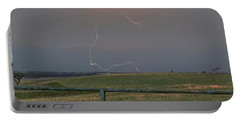 Lightning Bolt On A Scenic Route Portable Battery Charger