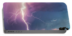 Portable Battery Charger featuring the photograph Lightning Dancer by Rick Furmanek