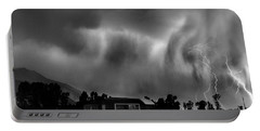 Lightning Storm Over The Snake River Ranch, Wyoming Portable Battery Charger by Wernher Krutein