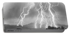 Lightning Striking Longs Peak Foothills 4cbw Portable Battery Charger