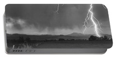 Lightning Striking Longs Peak Foothills 5bw Portable Battery Charger