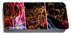 Lightpainting Triptych Wall Art Print Photograph 5 Portable Battery Charger