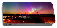 Lights On The Horizon Portable Battery Charger by Justin Moore