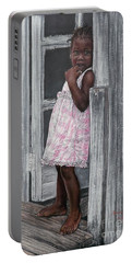 Lil' Girl In Pink Portable Battery Charger