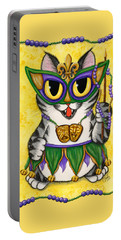 Lil Mardi Gras Cat Portable Battery Charger