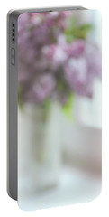 Lilac At The Window. Impressionism Portable Battery Charger