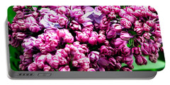 Lilac Blossoms Abstract Soft Effect 1 Portable Battery Charger