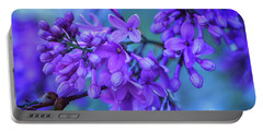 Lilac Blues Portable Battery Charger by Elizabeth Dow