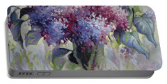 Lilac Bouquet Portable Battery Charger by Elena Oleniuc