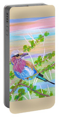 Lilac Breasted Roller In Thorn Tree Portable Battery Charger by Phyllis Kaltenbach