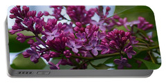 Lilac Buds Portable Battery Charger