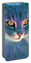 Lilac Cat Portable Battery Charger