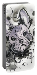 Lilac Frenchie Portable Battery Charger