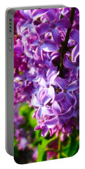 Lilac In The Sun Portable Battery Charger