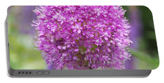 Lilac-pink Allium Portable Battery Charger