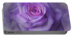 Lilac Purple Rose Portable Battery Charger