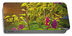 Lilac Tree Portable Battery Charger