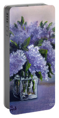 Lilac Portable Battery Charger