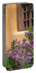 Lilacs And Adobe Portable Battery Charger by Catherine Sherman