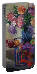 Lilacs And Peonies Portable Battery Charger