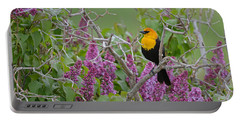 Lilacs And Yellowhead Blackbirds Portable Battery Charger