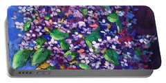 Lilacs Bouquet By Prankearts Portable Battery Charger